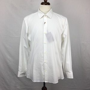 Ted Baker White Booker Slim Fit Dress Shirt